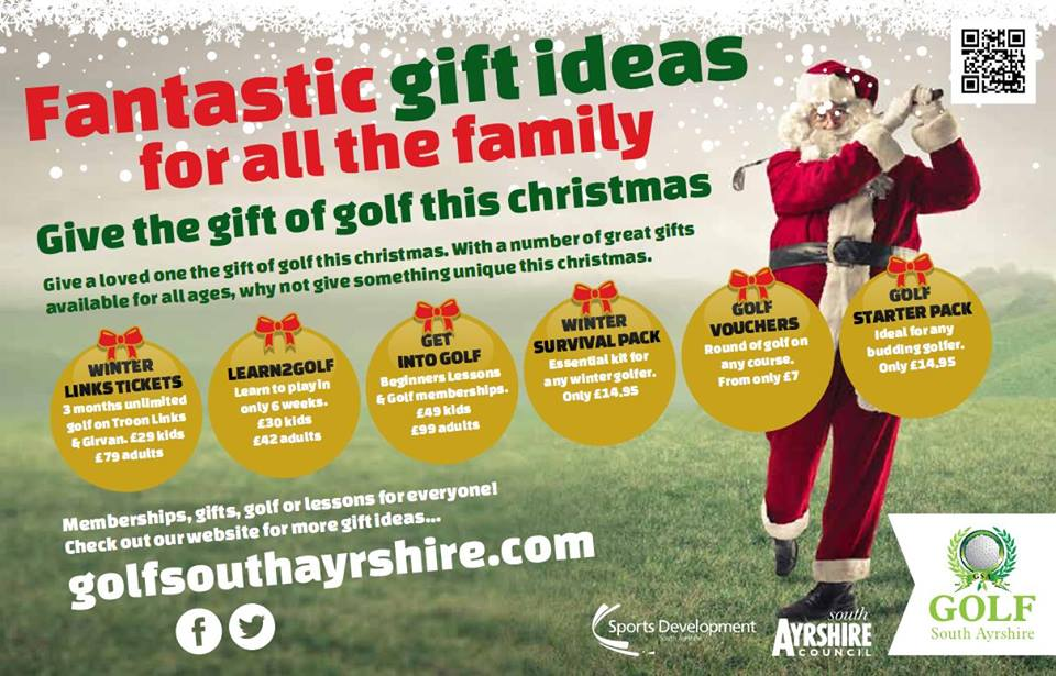 GIVE THE GIFT OF GOLF THIS CHRISTMAS | Golf South Ayrshire